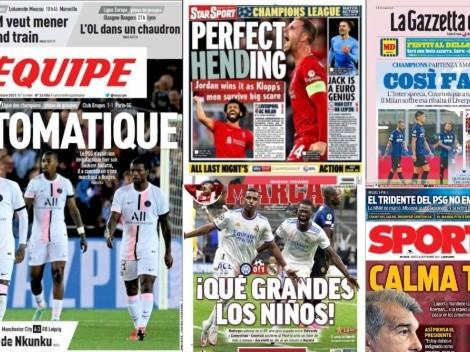 Las portadas europeas tras la primera jornada de Champions