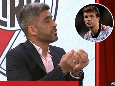 """El Negro Bulos lo hizo de nuevo: dijo que un jugador de River es """"el Müller del fútbol argentino"""""""