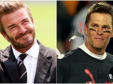 David Beckham y Tom Brady: El inglés se deshace en elogios ante el quarterback