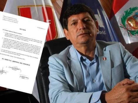 Lozano sigue sufriendo: TAS aceptó medida cautelar sobre las elecciones de la FPF