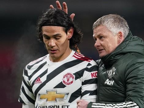Manchester United: Solskjaer dio pistas sobre el regreso de Cavani tras la lesión