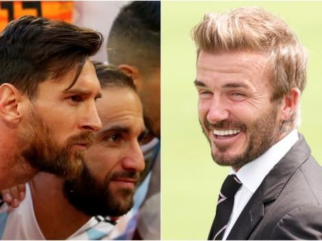 Higuaín confirmó que Beckham quiere a Messi para Inter Miami