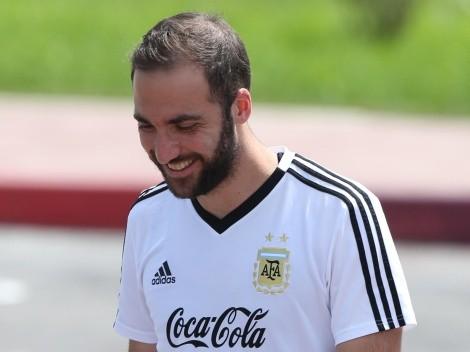 """Gonzalo Higuaín, fascinado con Julián Álvarez: """"Es una debilidad que tengo por él"""""""