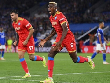 Victor Osimhen fue la gran figura de Napoli frente a Leicester con dos golazos