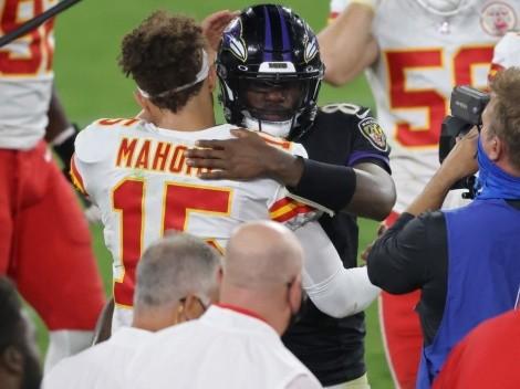 Patrick Mahomes buscará mantener paternidad contra Lamar Jackson en NFL 2021