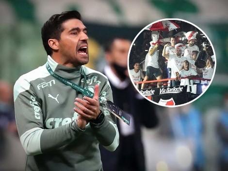 "DT de Palmeiras: ""River llevó champagne para festejar el pase a la final"""