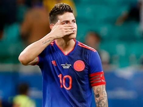 Júbilo inmortal: James Rodríguez fue bloqueado por la Selección Colombia