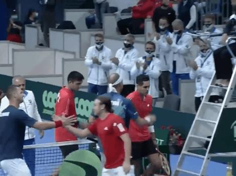 Barrios y Tabilo lo dan todo, pero caen en el dobles ante Eslovaquia
