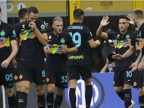 Lautaro Martínez y Vecino se anotan en la exhibición de Inter