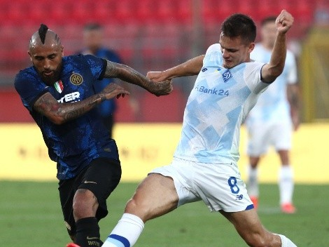 Arturo Vidal podría perderse el duelo del martes entre Inter y Fiorentina en la Serie A
