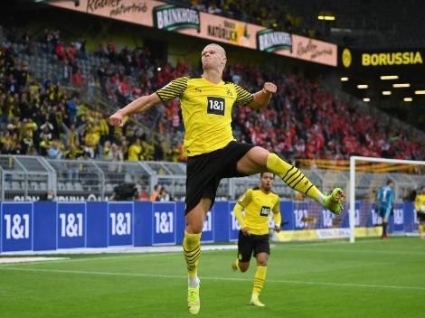 Haaland marca dois gols na vitória do Borussia Dortmund e iguala Lewandowski na artilharia do Campeonato Alemão