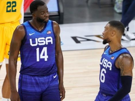 ¿Curry celoso? Draymond Green le mostró a Damian Lillard como festejar cuando ganaron con USA
