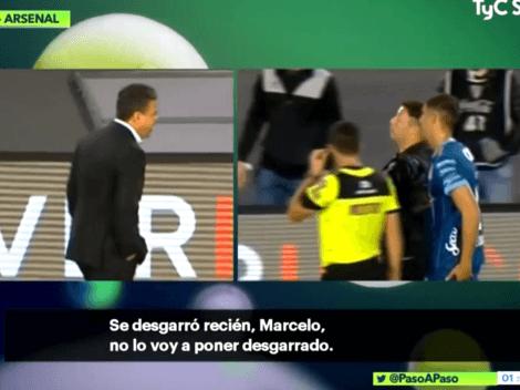 El desopilante cruce entre Gallardo y Damonte tras la lesión del Marciano Ortiz