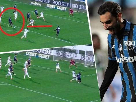 Video: Duván Zapata propuso el 'tiki taka', asistió y Atalanta marcó un golazo
