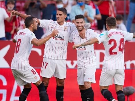 'Papu' Gómez, Montiel y Lamela se conectan para un golazo de Sevilla