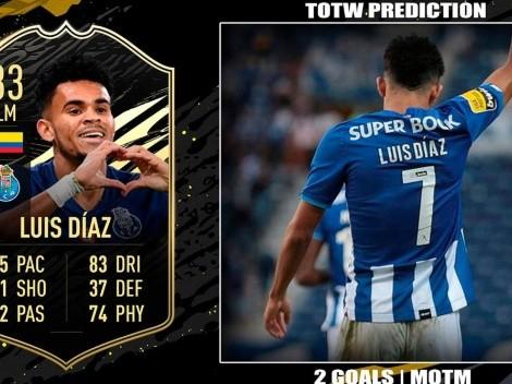 Luis Díaz, elegido en el primer Equipo de la Semana de FIFA 22