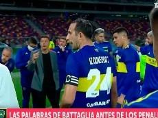 """Battaglia, mientras elegían a los pateadores: """"Con confianza, viejo"""""""