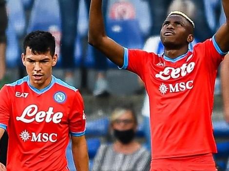 ¡Napoli líder! Chucky se floreó con doble asistencia en goleada