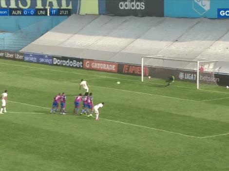 Desde los 12 pasos: Nelinho Quina anotó el 1-0 ante Alianza Universidad de Huánuco