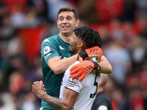 Dibu Martínez subió tres fotos después de la victoria de Aston Villa ante el United