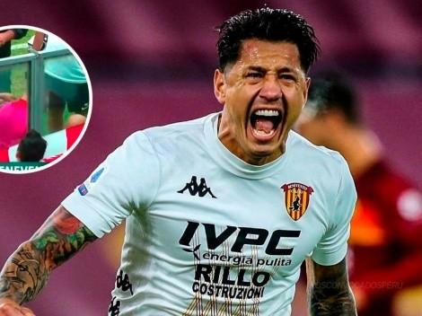 ¡Le damos suerte! Gianluca Lapadula volvió a anotar y saludó a bandera peruana en el estadio