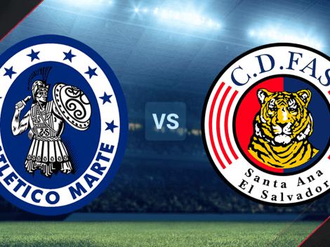 Atlético Marte vs. FAS EN VIVO por la Liga Mayor de El Salvador: Hora, canal de TV y minuto a minuto
