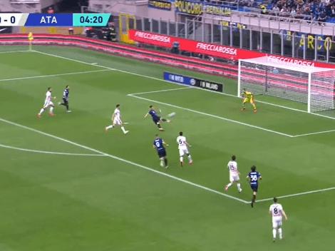 VIDEO: volea espectacular de Lautaro para el 1 a 0 del Inter