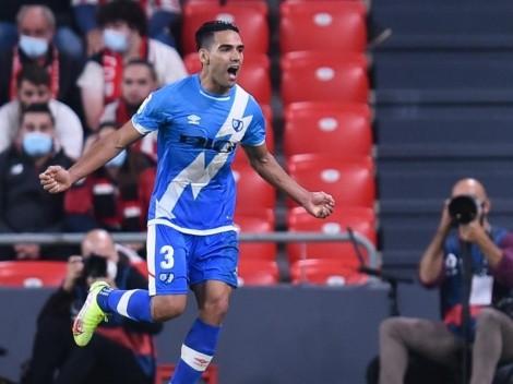 Falcao, titular con el Rayo para enfrentar al Cadiz por LaLiga
