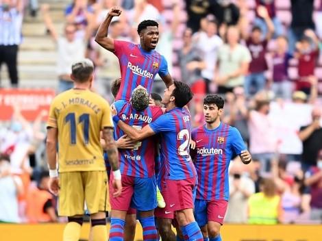 ¡Golazo de Ansu Fati en su regreso con Barcelona y usando la '10' de Messi!