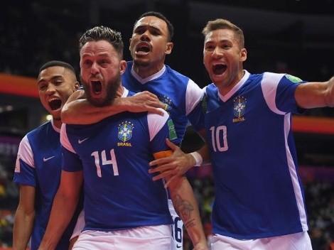 Brasil e Argentina vão se enfrentar nas semifinais do Mundial de Futsal