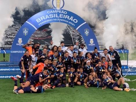 Corinthians vence o Palmeiras por 3 x 1 e conquista o tricampeonato do Brasileiro Feminino
