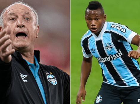Felipão expõe cenário ideal para usar Campaz no Grêmio e adota ironia