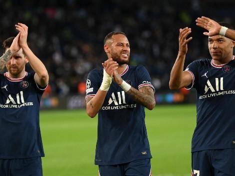 Neymar subió un fotón con Messi y Mbappé tras la victoria del PSG