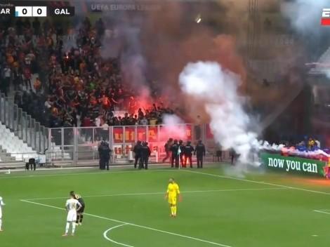 Video   los incidentes entre los hinchas de Marsella y Galatasaray que detuvieron al partido