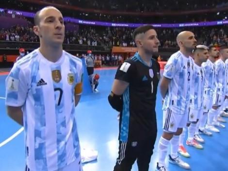 ¡Emocionante! Así cantó el Himno la Selección Argentina antes de la final del Mundial de Futsal