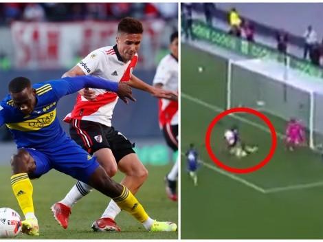 La milimétrica salvada de Luis Advíncula que evitó el gol de River Plate ante Boca Juniors