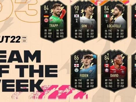 Nuevas cartas para Son, Suárez y Foden en el TOTW 3 del FIFA 22