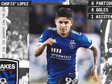 Chofis López, jugador del mes en la MLS