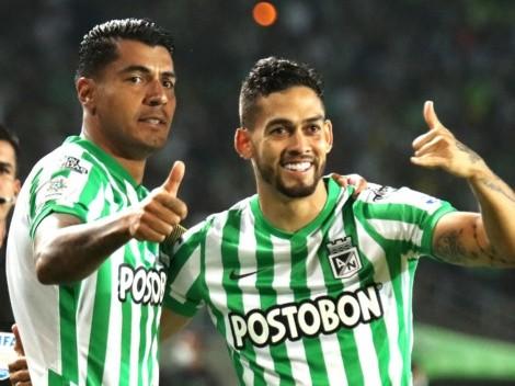 Andrade, Dorlan y Duque lideran la titular de Atlético Nacional ante el Cali