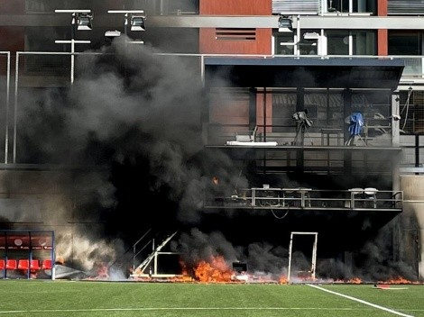Se incendia estadio de Andorra previo al duelo ante Inglaterra