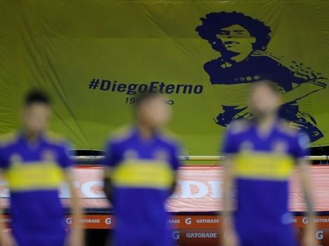 VIDEO   El emotivo homenaje de los hinchas de Boca a Maradona