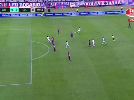 VIDEO | ¡Qué golazo! Meza amplió la ventaja de Colón con un zapatazo
