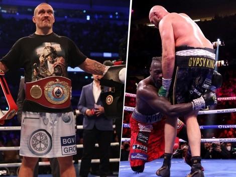 Oleksandr Usyk vio la trilogía y se convenció de poder vencer tanto a Fury como a Wilder
