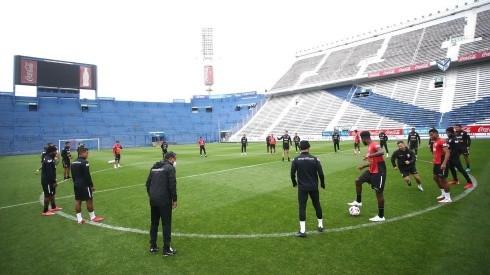 Selección Peruana viene entrenando en el estadio Velez Sarsfield.