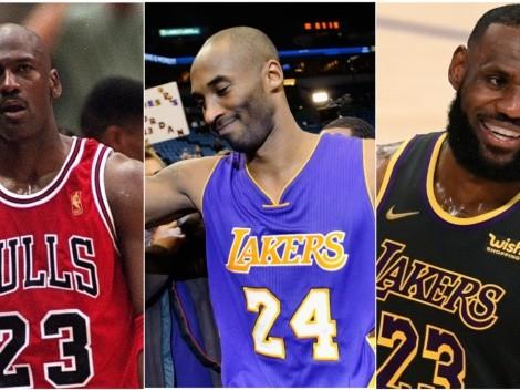 ¡LeBron y Kobe lo aprobarían! Así luciría la camiseta de Michael Jordan en Lakers