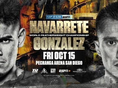 Cómo, cuándo y dónde ver Emanuel Navarrete vs. Joet González