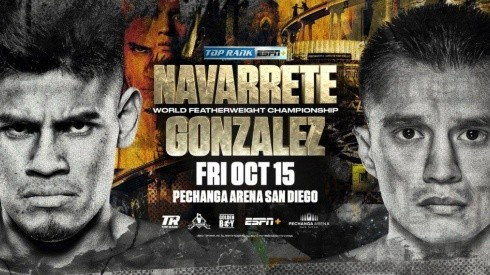 Emanuel Navarrete vs. Joet González por el título mundial de peso pluma de la OMB.