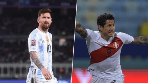 Lionel Messi y Gianluca Lapadula.