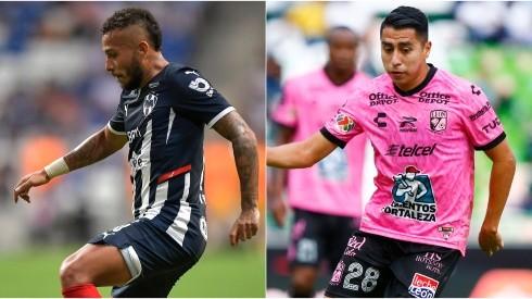 Duvan Vergara of Monterrey (left) and Jose Ramirez of Club Leon