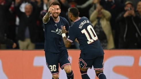 Lionel Messi y Neymar en un encuentro con PSG.